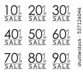 sale and discount tag set.... | Shutterstock . vector #537126046