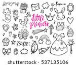 little princess funny graphic... | Shutterstock .eps vector #537135106