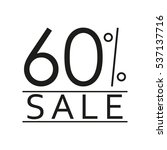 60  sale. price off icon with... | Shutterstock . vector #537137716