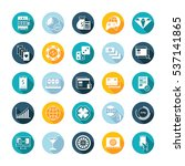 set square flat icons and... | Shutterstock . vector #537141865