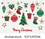 merry christmas greeting card... | Shutterstock .eps vector #537145546
