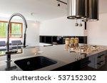 modern kitchen interior with a... | Shutterstock . vector #537152302