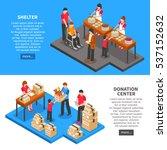 charity isometric horizontal... | Shutterstock .eps vector #537152632