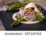 medallion of veal with... | Shutterstock . vector #537154765