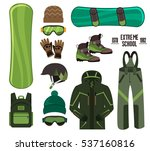 snowboard with strap in... | Shutterstock .eps vector #537160816