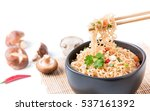 Closed Up Instant Noodles With...