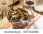 marinated mushrooms and onions... | Shutterstock . vector #537162082