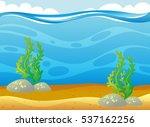 ocean scene with seaweed... | Shutterstock .eps vector #537162256