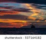 beautifully lit clouded sky... | Shutterstock . vector #537164182