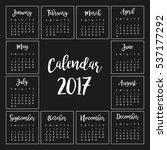 One Page Calendar 2017 Design...