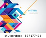 vector of modern abstract... | Shutterstock .eps vector #537177436