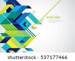 vector of modern abstract... | Shutterstock .eps vector #537177466
