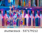 pyramid line of burning alcohol ... | Shutterstock . vector #537179212