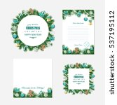 christmas templates set  ... | Shutterstock .eps vector #537195112