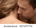 skin smell. closeup of handsome ... | Shutterstock . vector #537197776