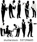 Waiter Silhouette Collection  ...