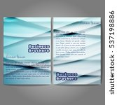 vector brochure template design ... | Shutterstock .eps vector #537198886