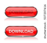 download button. shiny red oval ... | Shutterstock .eps vector #537207616
