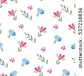 floral cute vector seamless... | Shutterstock .eps vector #537218836
