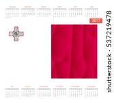 2016 calendar   malta country... | Shutterstock .eps vector #537219478