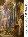 Small photo of Aachen cathedral is world heritage site, on Dec 5, 2016 in Aachen, Germany. Interior detail.