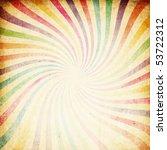 Retro Colorful Sunburst...