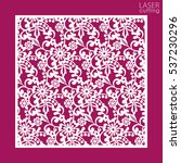 laser cut square ornamental... | Shutterstock .eps vector #537230296