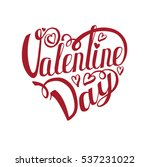 happy valentines day card... | Shutterstock .eps vector #537231022