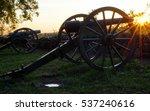 Gettysburg Cannon At Sunrise