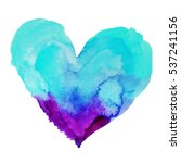 Cute Watercolor Heart Symbol...