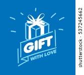 vector logo gift | Shutterstock .eps vector #537245662