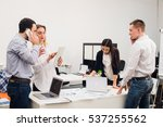 business people working in... | Shutterstock . vector #537255562