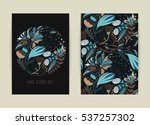 cover design with floral... | Shutterstock .eps vector #537257302