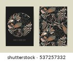 cover design with floral... | Shutterstock .eps vector #537257332