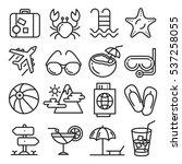 vector icons lines set... | Shutterstock .eps vector #537258055