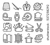vector icons lines set... | Shutterstock .eps vector #537258292