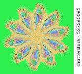 new symmetrical mandala in... | Shutterstock .eps vector #537260065