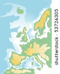 sketchy map of europe and the... | Shutterstock .eps vector #53726305