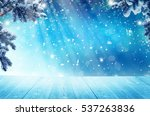 merry christmas and happy new... | Shutterstock . vector #537263836