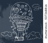 balloon with clouds. vector... | Shutterstock .eps vector #537268816