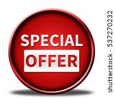 special offer button isolated.... | Shutterstock . vector #537270232