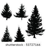 christmas tree set  elements... | Shutterstock .eps vector #53727166