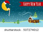 happy new year night  house ... | Shutterstock .eps vector #537274012