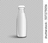 glass bottle with milk isolated ... | Shutterstock .eps vector #537275056
