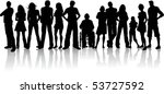 huge crowd of people | Shutterstock .eps vector #53727592
