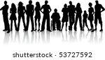 huge crowd of people | Shutterstock .eps vector #53727592