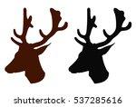 deer silhouette  vector... | Shutterstock .eps vector #537285616