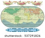 vector old globe with... | Shutterstock .eps vector #537291826