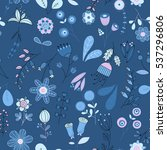 vector flower pattern. colorful ... | Shutterstock .eps vector #537296806