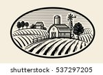vector image of village and... | Shutterstock .eps vector #537297205
